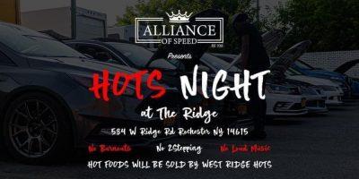 Hots Night at The Ridge Car Meet