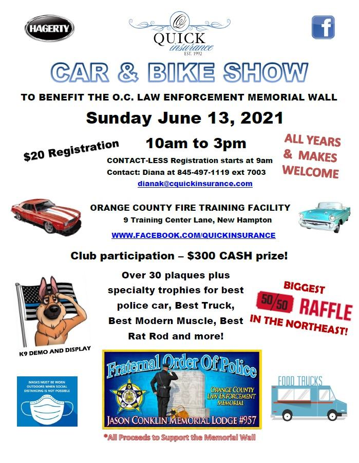 FOP Car Show by Quick Insurance 2021 - NY Carcruisefinder.com