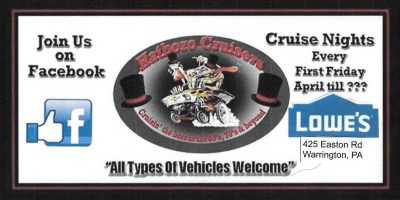 Hatboro Cruiser's Aprils First Friday Cruise Night