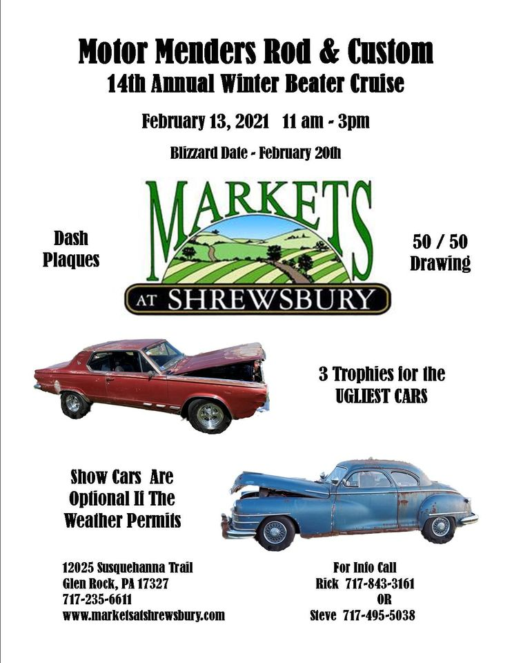 Motor Menders 14th Annual Winter Beater Cruise